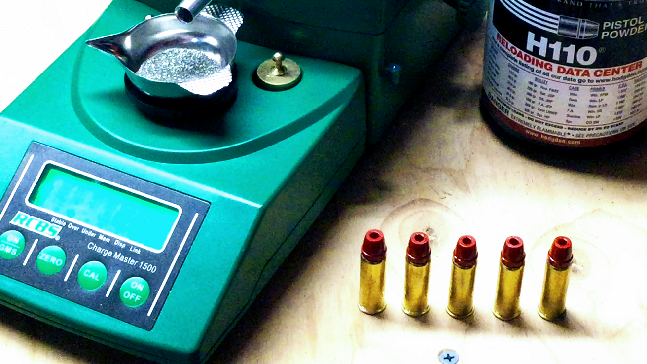 Loading  44 Magnum for the Powder Coated Cast Lead Hollow Point Bullet Test