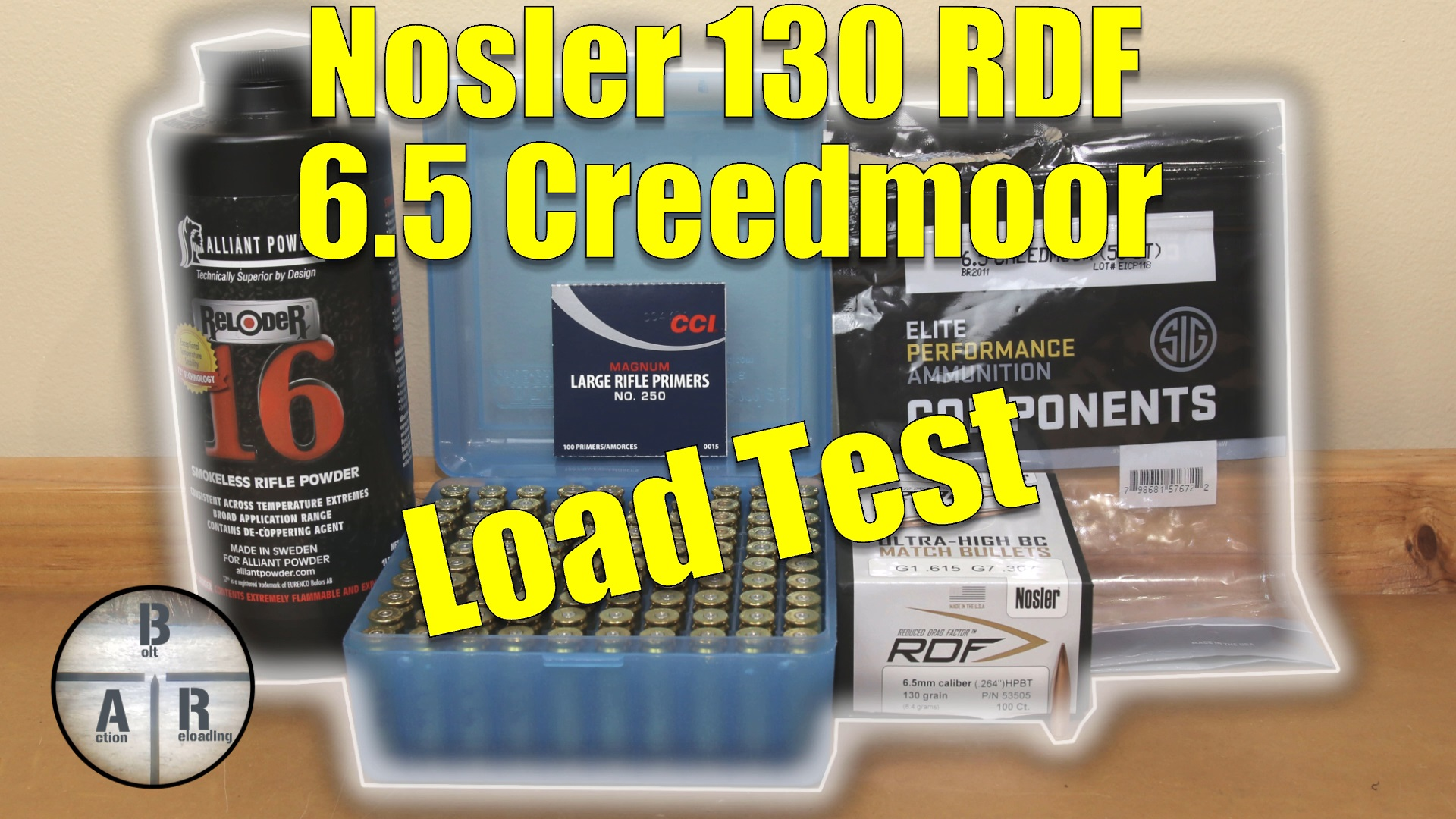 Nosler 130 gr RDF with Alliant Reloder 16 in 6 5 Creedmoor – Ruger  Precision Rifle