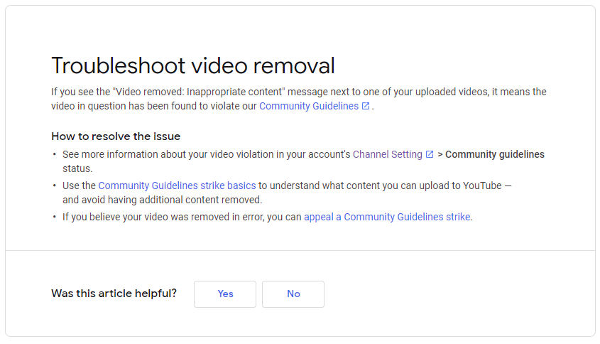 YouTube Deleted My Video 4