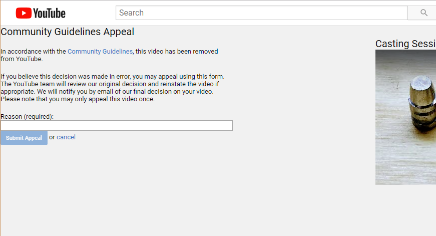 YouTube Deleted My Video 8