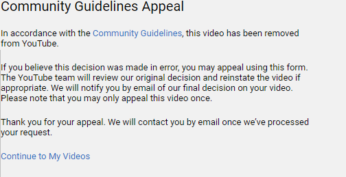 YouTube Deleted My Video 12