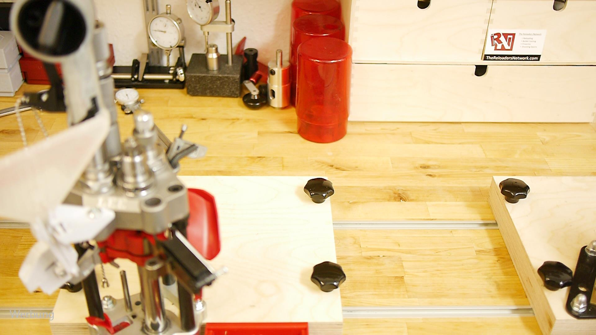 T-Track system for the reloading workbench 24