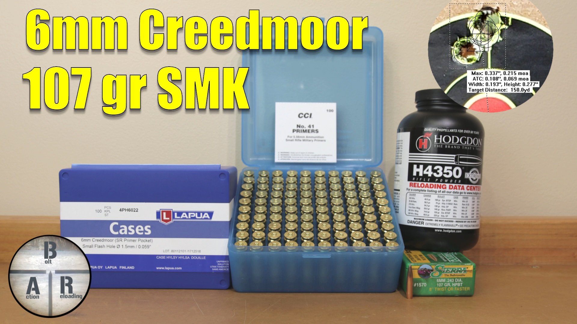 6mm Creedmoor - 115 DTAC with H4350 test with Ruger