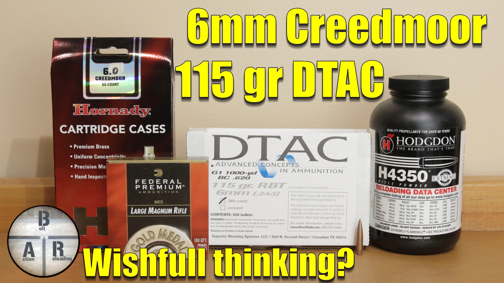 6mm Creedmoor – 115 DTAC with H4350 test with Ruger Precision Rifle