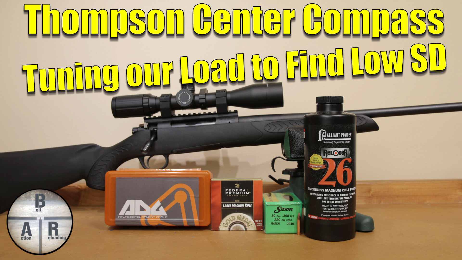 300 Win Mag - Thompson Center Compass- Load development with the 220 Nosler CC and Hodgdon H1000 2