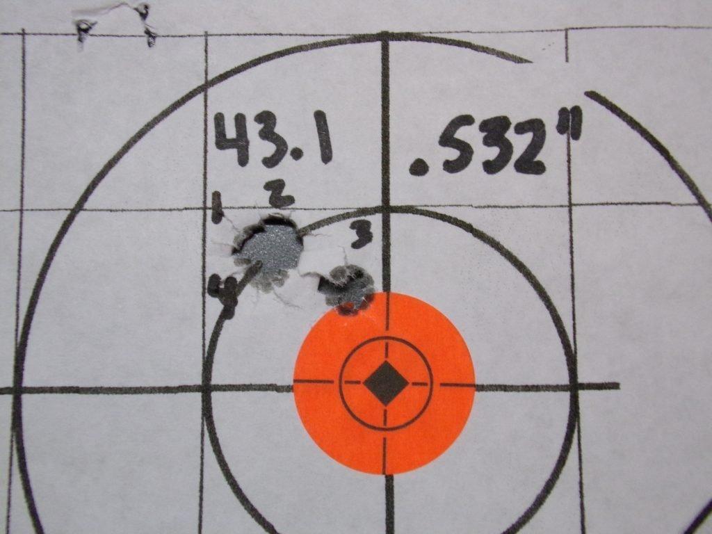 .308 Compass; 168g Hornady Match and Match Monster w/ Varget. 10