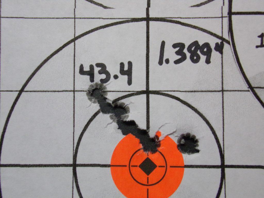 .308 Compass; 168g Hornady Match and Match Monster w/ Varget. 12
