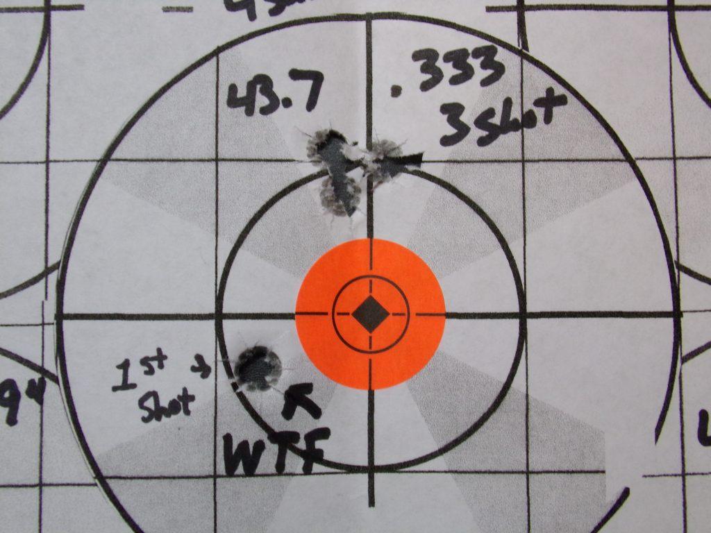 .308 Compass; 168g Hornady Match and Match Monster w/ Varget. 14