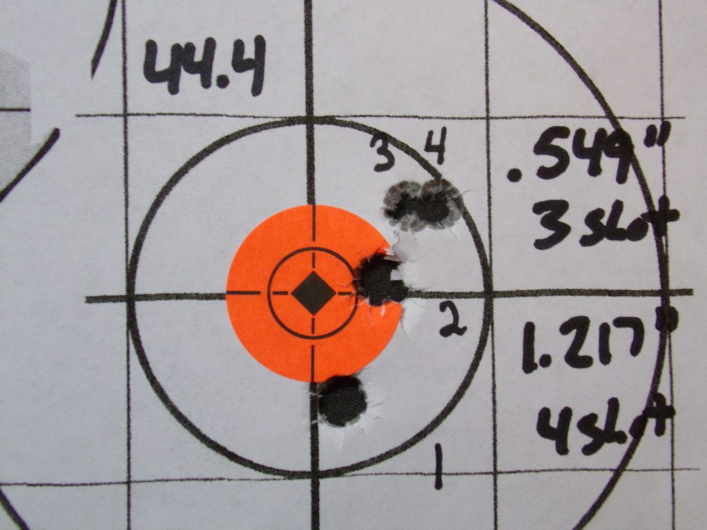 .308 Compass; 168g Hornady Match and Match Monster w/ Varget. 18