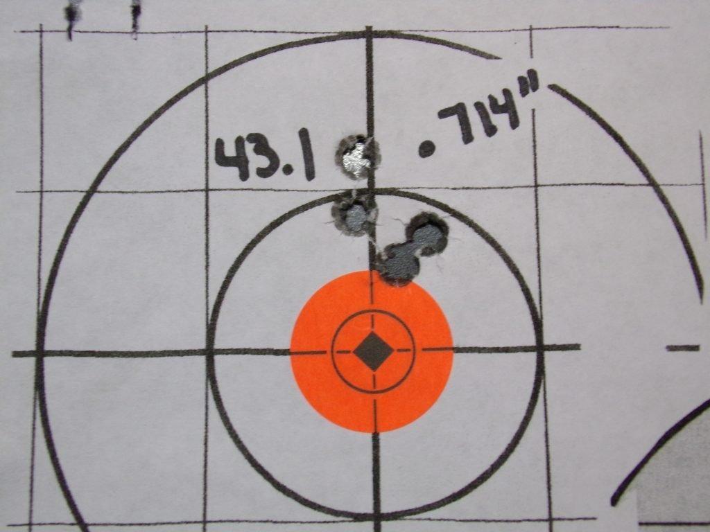 .308 Compass; 168g Hornady Match and Match Monster w/ Varget. 22