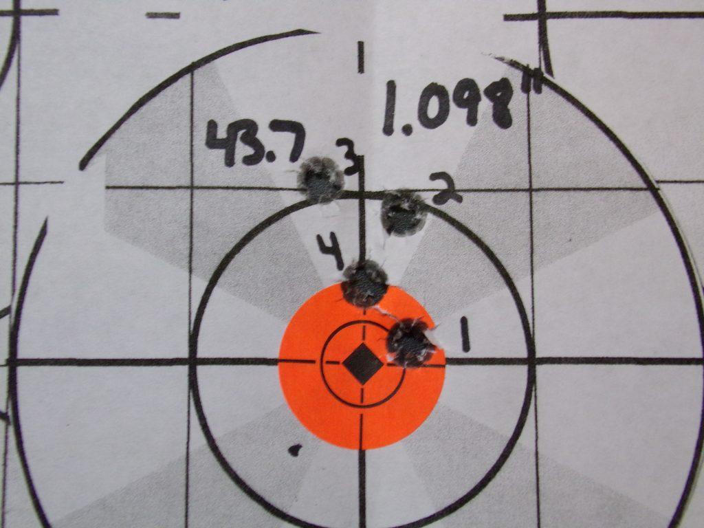 .308 Compass; 168g Hornady Match and Match Monster w/ Varget. 26