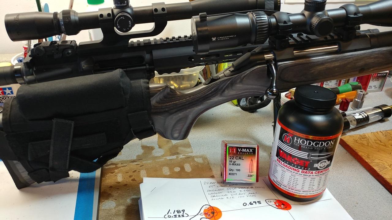 Reloading 223 Hornady 55gr VMAX | Varget | Ruger American Predator and AR15 16