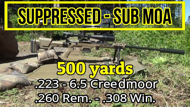 Sub MOA plate 500 yards - 6 5 Creedmoor  300 Win Mag  260