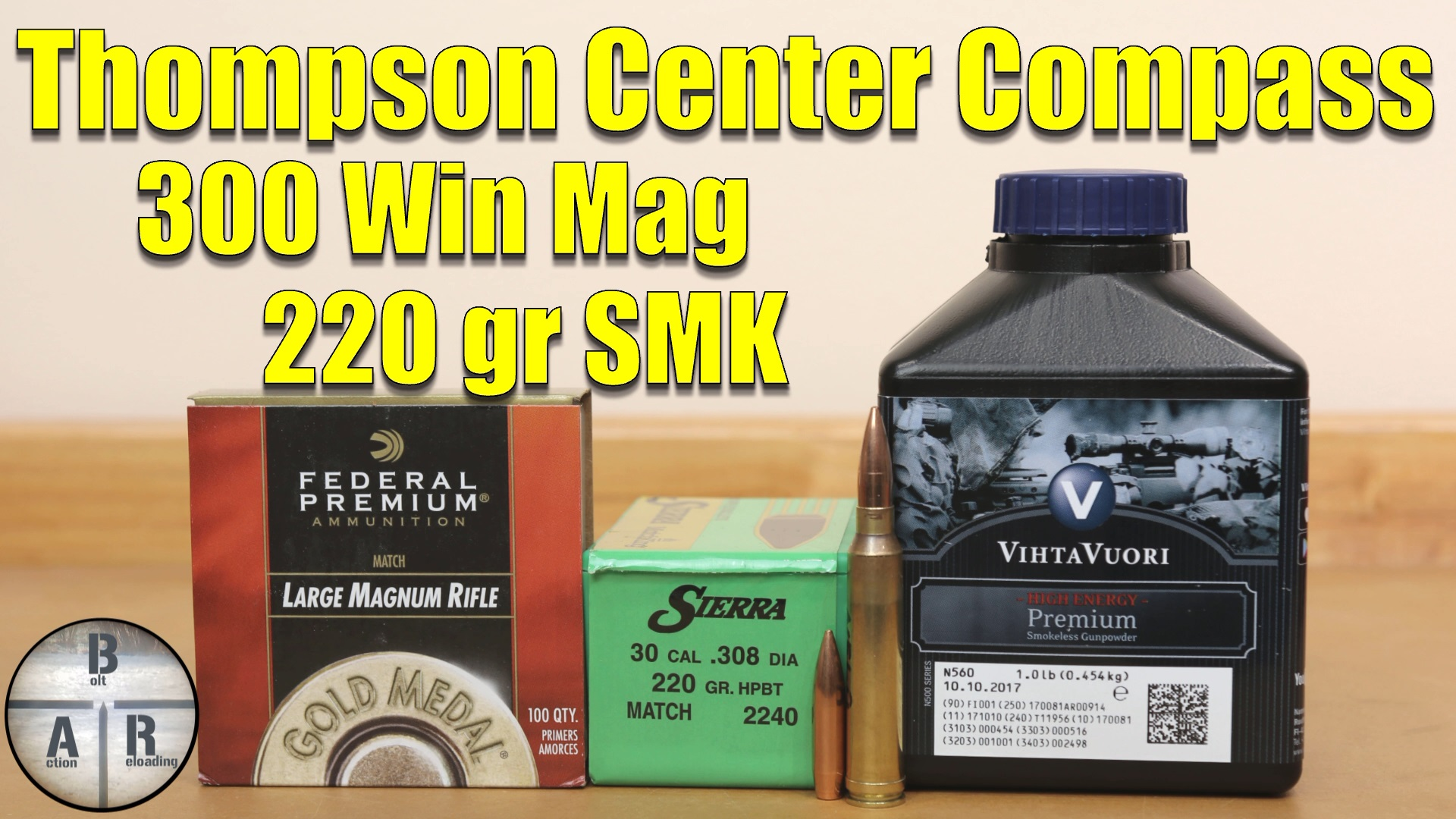 300 Win Mag - Thompson Center Compass- Load development with the 220 Nosler CC and Hodgdon H1000 11