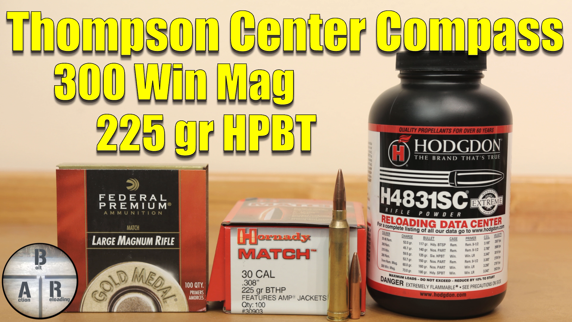 300 Win Mag - Thompson Center Compass- Load development with the 220 Nosler CC and Hodgdon H1000 10