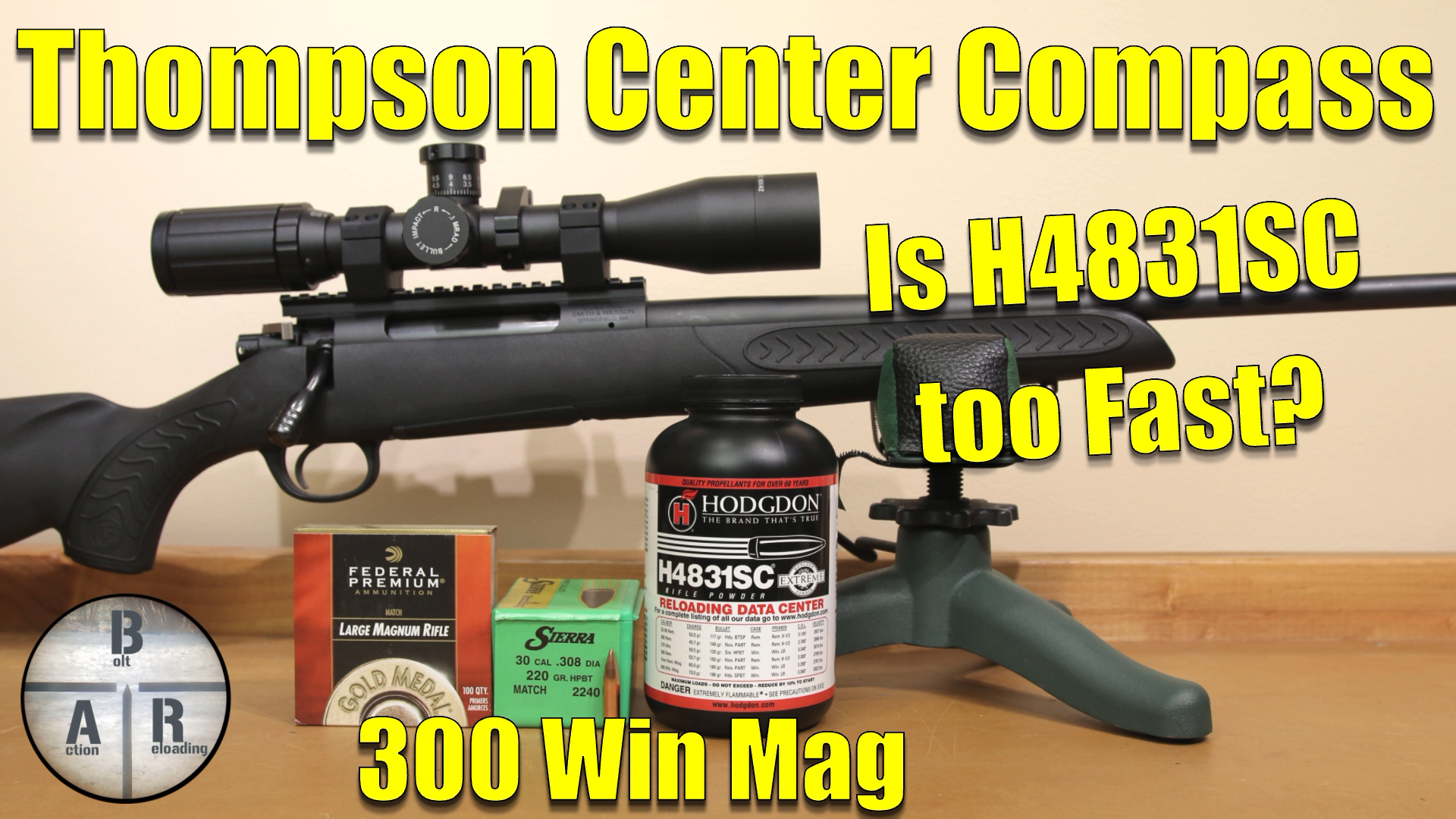 300 Win Mag - Thompson Center Compass- Load development with the 220 Nosler CC and Hodgdon H1000 9