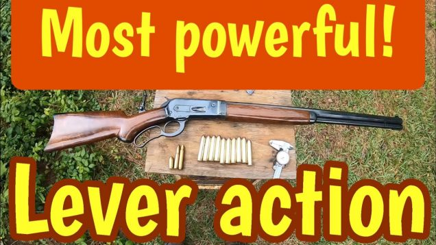 50-110 Win, is the most powerful lever action rifle cartridge