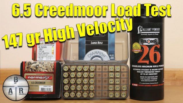 6.5 Creedmoor – Hornady 147 gr ELD-M with Alliant Reloder 26 load development