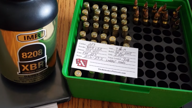 223 Remington | Hornady 62gr FMJ | IMR 8208 XBR 2