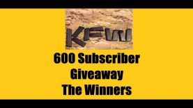 KFW 600 Subscriber Giveaway – The Winners