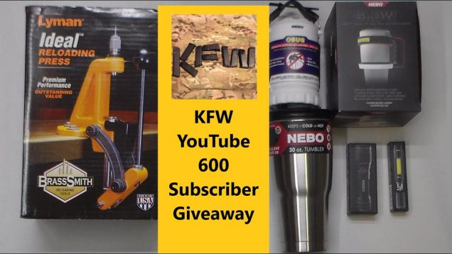 KFW YouTube 600 Subscriber Giveaway