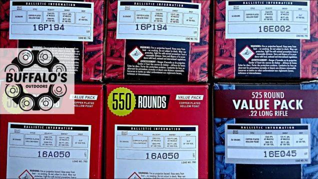 Lot codes on bulk pack .22lr 22