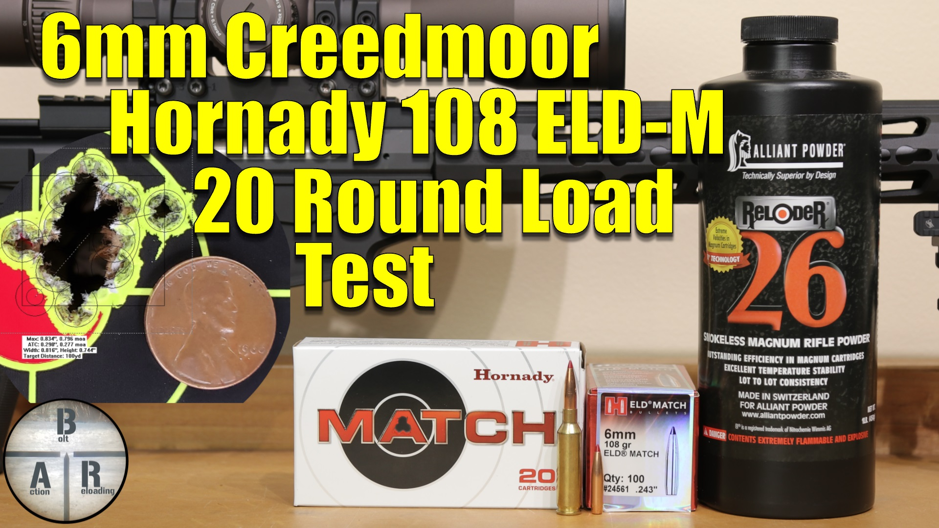 6.5 Creedmoor - Trying for higher velocities with Hornady 147 gr ELD-M with Alliant Reloder 26 3