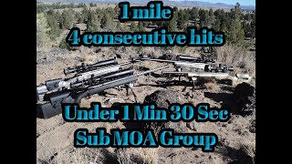 1 Mile .338 Lapua 4 hits under 1 min 30 sec Sub MOA – Long range shooting – ELR LRS
