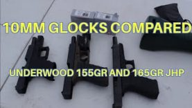 10mm Glocks Velocity Compared with Underwood JHP