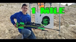 14 year old takes his 7mm Rem Mag out to ONE MILE!!!
