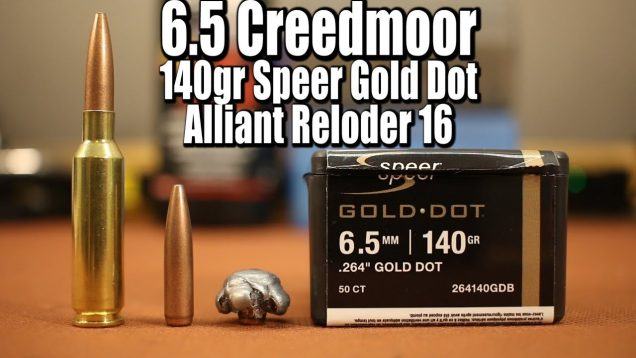 140gr Speer Gold Dot in 6.5 Creedmoor