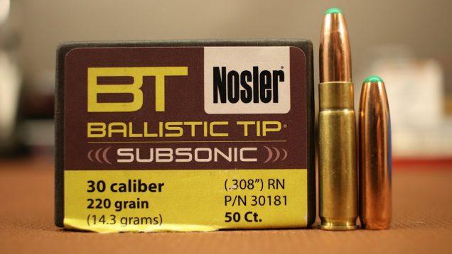 300 Blackout – 220gr Nosler Ballistic Tip Subsonic