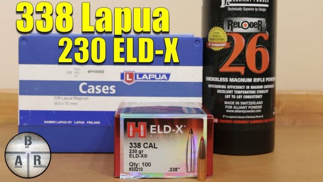 338 Lapua – Hornady 230 ELD-X and Reloder 26 Load Test