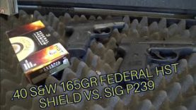 .40 S&W 165gr Federal HST Sig P239 vs. Shield 40