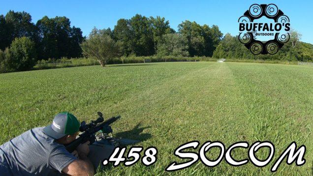 .458 SOCOM {300 gr Nosler Ballistic Tip} 100 yard water test 10