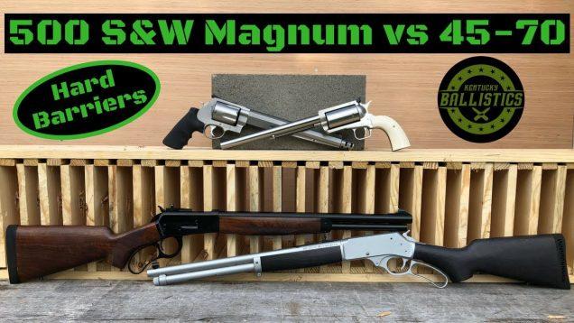 500 S&W Magnum vs 45-70 vs Pine Boards (Pistol & Rifle)