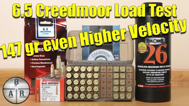 6.5 Creedmoor – Trying for higher velocities with Hornady 147 gr ELD-M with Alliant Reloder 26