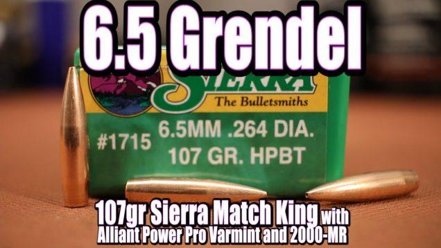 6.5 Grendel – 107gr Sierra Match King