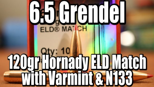 6.5 Grendel – 120gr Hornady ELD with Varmint and N133