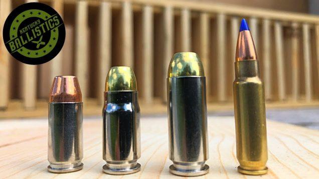 9mm vs .357 Sig vs 10mm vs 5.7x28mm vs Pine Boards