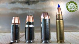 9mm vs  357 Sig vs 10mm vs 5 7x28mm vs Ballistic Gel