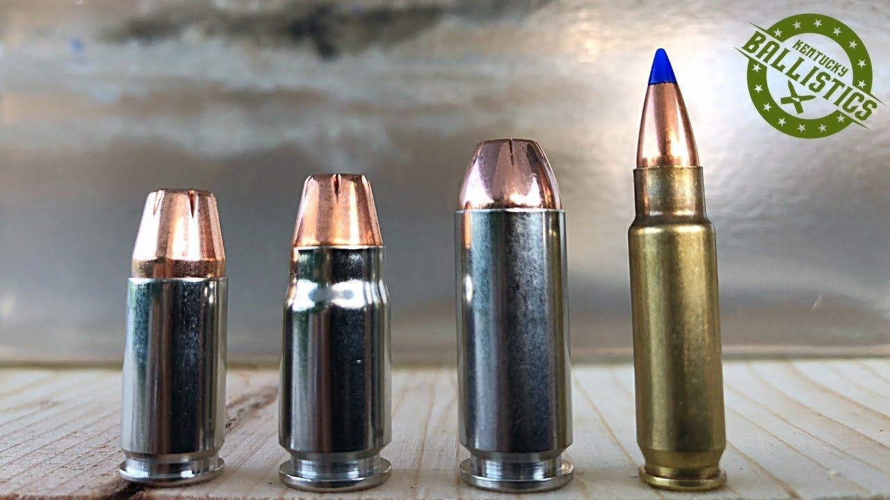 9mm vs  357 Sig vs 10mm vs 5 7x28mm vs Ballistic Gel