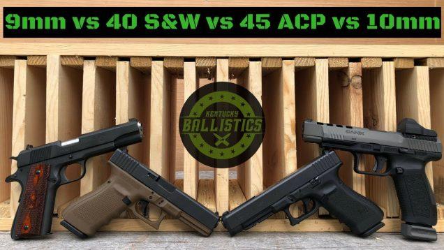 9mm vs 40 S&W vs 45 ACP vs 10mm vs Pine Boards
