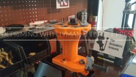 Depriming with the Lyman 8 Turret Press