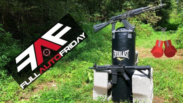 Full Auto Friday! AK-47 & AR-15 vs Punching Bag 🥊