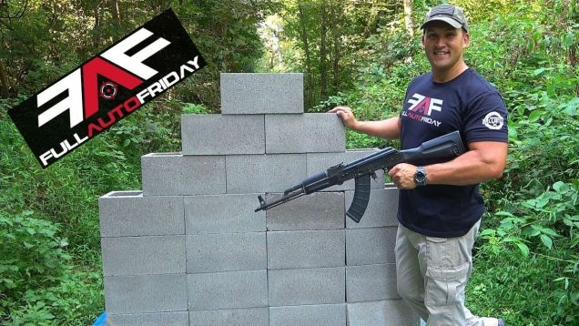 Full Auto Friday! AK-47 vs Cinder Block Wall! ⛏🦖