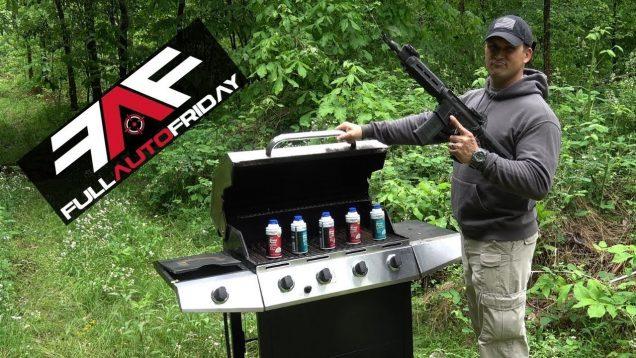 Full Auto Friday! AR-15 vs Grill! 🍖