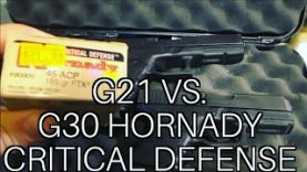 Glock 21 vs. Glock 30 .45 Auto 185gr Hornady Critical Defense Review