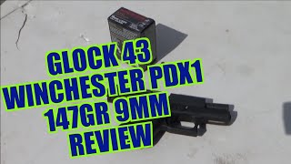 Glock 43 Winchester PDX1 147gr Review