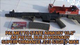 Hornady 53gr .223 Rem Superformance 10.5″ Palmetto State Armory AR15 Pistol